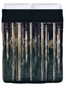 Dock Pilings Duvet Cover