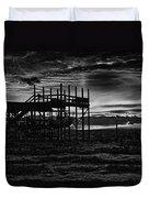 Dock Sunset Bw1 Duvet Cover