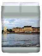Docked At The Boardwalk Walt Disney World Duvet Cover