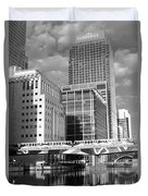 Docklands London Mono Duvet Cover