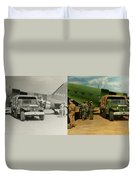 Doctor - 1942 - Delivering Blood - Side Duvet Cover by Mike Savad