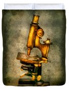 Doctor - Microscope - The Start Of Modern Science Duvet Cover by Mike Savad