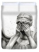 Doctor Who Weeping Angel Don't Blink Duvet Cover