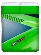 Dodge Challenger 440 Magnum Rt Hood Emblem Duvet Cover