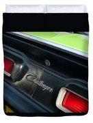 Dodge Challenger 440 Magnum Rt Taillight Emblem Duvet Cover by Jill Reger