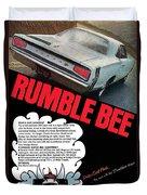 Dodge Coronet Super Bee - Rumble Bee Duvet Cover