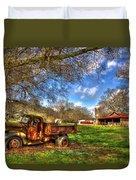 Dodge Dump Truck Farm Barn Scene Duvet Cover