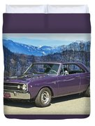 Dodge- Mountain Background Duvet Cover