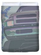 Dodge Ram With Decreased Color Value Duvet Cover