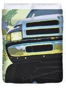 Dodge Ram With Green Hue Duvet Cover
