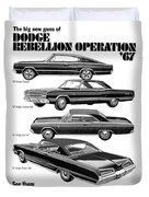 Dodge Rebellion '67 Duvet Cover