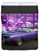 Dodge Rt Purple Abstract Background Duvet Cover