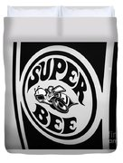 Dodge Super Bee Decal Black And White Picture Duvet Cover