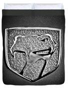 Dodge Viper Emblem -217bw Duvet Cover