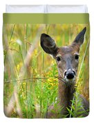 Doe In Morning Dew Duvet Cover