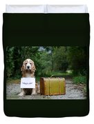 Dog And Suitcase Duvet Cover