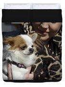 Dog And True Friendship 2 Duvet Cover