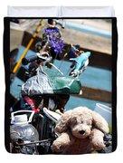 Dog Bike Duvet Cover