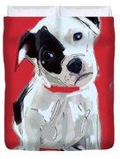 Dog Doggie Red Duvet Cover