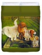 Dog Friends Duvet Cover
