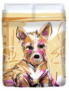 dog I did not make this mess Duvet Cover