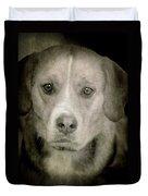 Dog Posing Duvet Cover