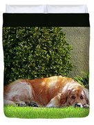 Dog Relaxing Duvet Cover