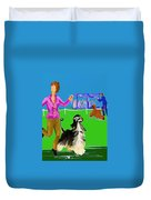 Dog Show Competitors Duvet Cover