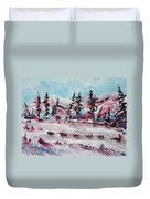 Dog Sled Duvet Cover