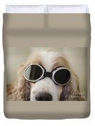 Dog With Eyeglasses Duvet Cover