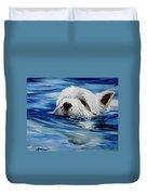 Doggie Paddle Duvet Cover