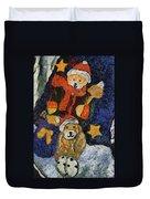 Doggie Xmas Stocking 03 Photo Art Duvet Cover