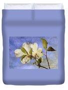 Dogwood Blossoms And Blue Sky - D007963-b Duvet Cover