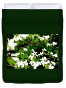 Dogwood In The Wind Duvet Cover