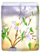 Dogwood In Watercolor Duvet Cover
