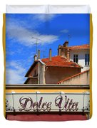 Dolce Vita Cafe In Saint-raphael France Duvet Cover