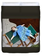Doll And Camp Chairs 1800s Duvet Cover