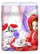 Doll At The Tea Party  Duvet Cover