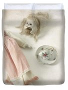 Doll With Tea Cup Duvet Cover