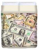 Dollars Background.  Duvet Cover