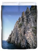 Dolomite Cliff With Guillemot Colony Duvet Cover