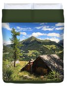Dolomites - Cordevole Valley Duvet Cover