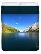 Dolomites - Fedaia Lake  Duvet Cover