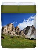 Dolomites In Badia Valley  Duvet Cover