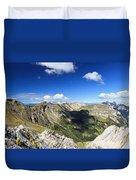Dolomites Landscape On Summer Duvet Cover