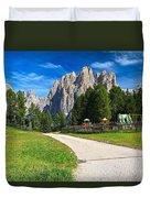 Dolomiti - Gardecia With Catinaccio Mount Duvet Cover