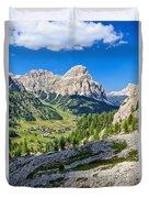 Dolomiti - High Badia Valley Duvet Cover