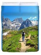 Dolomiti - Hiking In Contrin Valley Duvet Cover