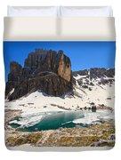 Dolomiti - Pisciadu Lake Duvet Cover