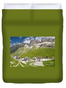 Dolomiti - Pordoi Pass Duvet Cover